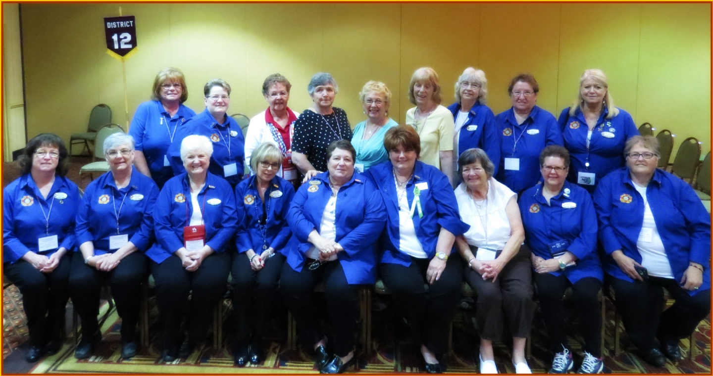 Recruited 20 or more members Back Row L-R: Patti Brothers, Marilyn Malick, Ruth Hukki, Sheryl Proteau, Judy Hanson, Pat Ackers, KathyDeNise, Della Petaja, Cheryl Moorehead.